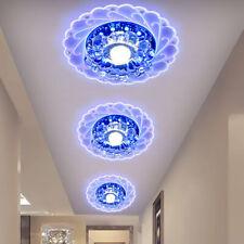 Lámpara de Techo Colgante Redonda LED Cristal Salón Luces De Pasillo Dormitorio