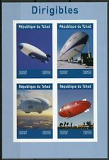 Chad 2019 MNH Dirigibles Airships 4v IMPF M/S Aviation Stamps