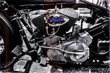 12x18 in Poster Vintage Indian Motorcycle, Garage Art Harley Davidson Man Cave