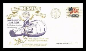 DR JIM STAMPS US GEMINI LONGEST AMERICAN SPACE FLIGHT EVENT COVER 1965