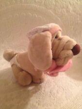 "VTG 1981 11"" Ganz Bros. Wrinkles Baby Dog W/ Diaper Cap Pacifier Plush Stuffed"