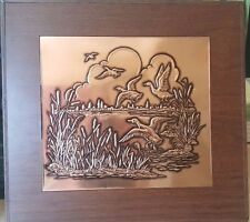 Copper Weibro Sculpt Craft Metal Plaque Sculpture Geese Subject 33050 Chicago Fs