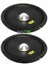 Pair of McLaren Sound Mlm-800Nd 8″ 400W 4-Ohm Car Audio Midrange Neo Mid Speaker