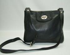 Fossil Maddox Black Genuine Leather Crossbody Bag