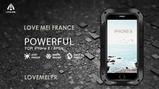 Coque Antichoc blindée iPHONE 8 plus - LOVE MEI FRANCE - étanche - Noir