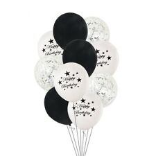 Birthday Party Balloons Black Number Confetti Shower Wedding Home Decoration New