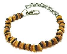 Hunden-Bernsteinkette Halsband Roh.100% Baltische Art: HZN 011  ca:25-45 cm.