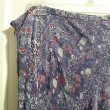 NWT Macy's Colorful Blue Burgundy Silk Skirt by Charter Club 20W MSRP $99