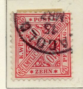 Wurttemberg 1881-1900 Early Issue Fine Used 10pf. NW-121125