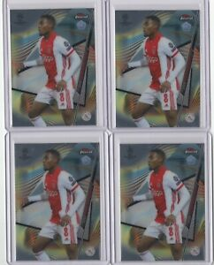 2020-21 TOPPS FINEST UCL RYAN GRAVENBERCH ROOKIE BASE CARD 4 LOT RC #38 [SY]