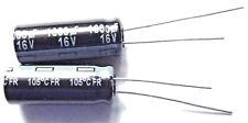 1000uf 16v 105c baja ESR tamaño 20mmx8mm Panasonic EEUFR 1C102L x2 un.