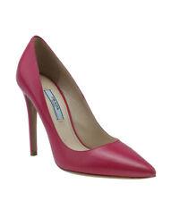 Prada Leather Pink Leather Heels, Size 35