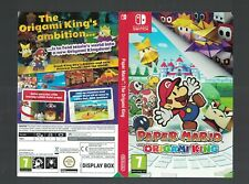 No game or box Paper Mario Switch Nintendo official promo Sleeve Shop Display