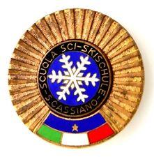 Spilla Scuola Sci-Skischule San Cassiano (Labor Milano) cm.4