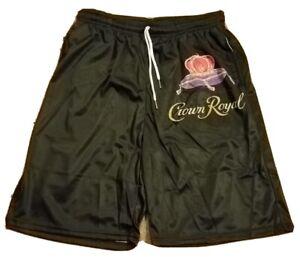 NEW CROWN ROYAL Logo Men's Long Beach Swimming Drawstring Board Shorts Size 2XL