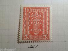 AUTRICHE AUSTRIA, 1922, timbre 266, ARMOIRIES, neuf*, OSTERREICH VF MH STAMP