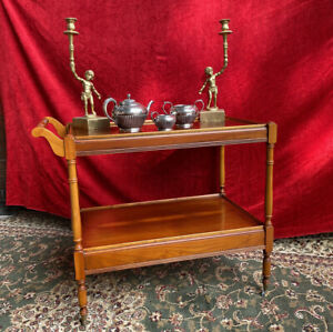 Quality Duke Of Westmoreland Gentlemans Drinks Wagon In Flamed Yew Wood
