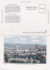 Carte Postale Haute Ville Uppertown QUEBEC QC Canada Folkard Foldout Postcard 67