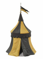 Black Hawk Tournament Medieval Knights Tent BLACK & YELLOW 1/32 Figure BH0914BY