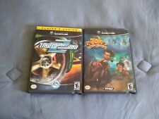Tak and NFS Underground 2 (Nintendo GameCube, 2003) CASES and MANUALS ONLY