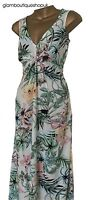 BN LADIES DOROTHY PERKINS FLORAL PRINT MAXI SUMMER DRESS SIZE 8-22 ONLY £16.99