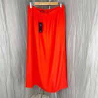 *BNWT* M&S Orange Fully Lined SIZE 20 UK Elasticated Waist Skirt