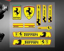 10PC Ferrari Car Strips Stickers Decal Badge Emblem For Famous Cars