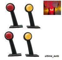 4 x 24v 9 LED Luci Laterali Evidenziatore Leva Fari Scania DAF Camion Rimorchio