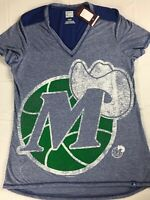 Dallas Mavericks Shirt Womens Medium NBA Basketball Hardwood Classics V-Neck NEW