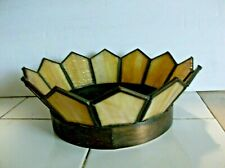 "1920's SLAG GLASS ""CROWN"" LAMP SHADE art deco / nouveau  EXCELLENT & ORIGINAL"