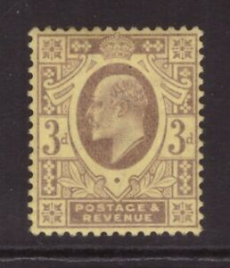 King Edward VII 3d   MINT NEVER HINGED MNH