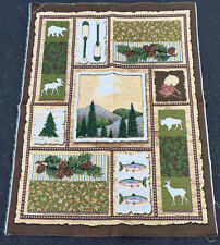 Deer Creek ~ Rustic Outdoor Image Collage Crafters Tapestry Wall Fabric Remnant