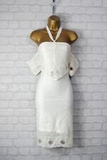 Vestido de noche de mujer de color principal blanco de poliéster