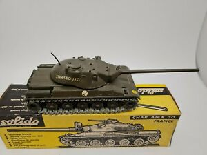 Vintage Solido Char AMX 30 Tank Good Condition in Original Box.