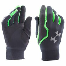 UNDER ARMOUR Cold Gear Infrared Engage Running Gloves men L Grey Green 1249405