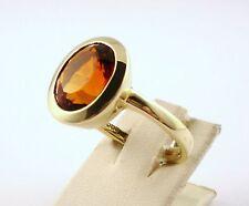 Edel-Citrin Ring Gold 585 14kt Neu Juwelier Farbsteinring Edelsteinring (LP1580)