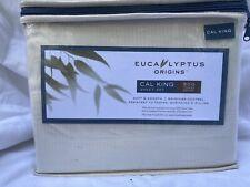 New Ivory Stripe Eucalyptus Sheet Set Cal King Size 500 Thread Count