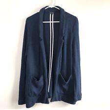 Topshop Cardigan Size 10 Navy Blue  Long Sleeve Pockets