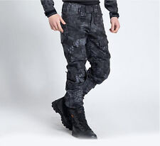 Men Outdoor Quick-drying Tactical Camo Hiking Hunting Pants Waterproof Trousers