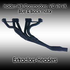 Holden WB/Commodore VC VH VK - Blue & Black Motor 6cyl Headers/Extractors, New