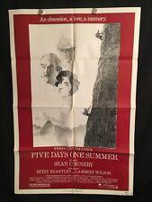 Five Days One Summer 1982 One Sheet Movie Poster Sean Connery Lambert Wilson 007