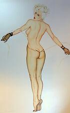 Olivia De Berardinis Nude Playboy Rhonda Ridley PinUp Girl Signed Print #148/345