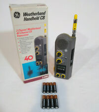 GE Weatherband 40 Channel Model 3-5985A Handheld CB Radio w/8 NEW BATTERIES