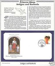 ANTIGUA BARBUDA PRINCESS DIANA MEMORIAL First Day Cover (7637)