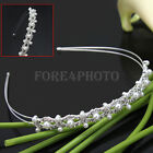 Princess Wedding Bridal Party Pearl Crystal Hair Band Headband headpiece Tiara
