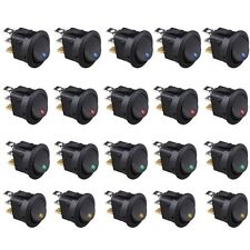 20x Blue Green Yellow Red LED Dot Light 12V Car Auto ON/OFF Toggle Switch Sales