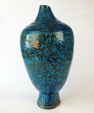 Islamic Art- Antique Kashan Iznik Turquoise Pottery Vase Persian Jar Vessel Rare