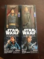 "Hasbro Star Wars Rogue One Action Figures 12"" Jyn Erso and Captain Cassian Andor"
