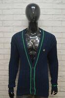 LACOSTE Uomo 4 Cardigan Maglione Maglia Pullover Blu Man Sweater Man Vintage