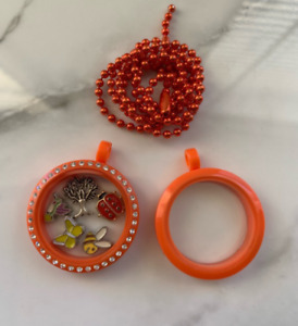Acrylic Crystal/plain Floating Charm Lockets